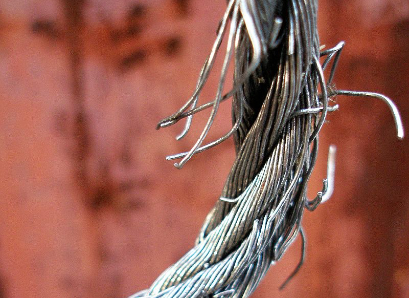 Do you check the internal condition of your ship's wire ropes?