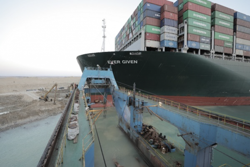 Container ship Ever Given free to leave Suez Canal