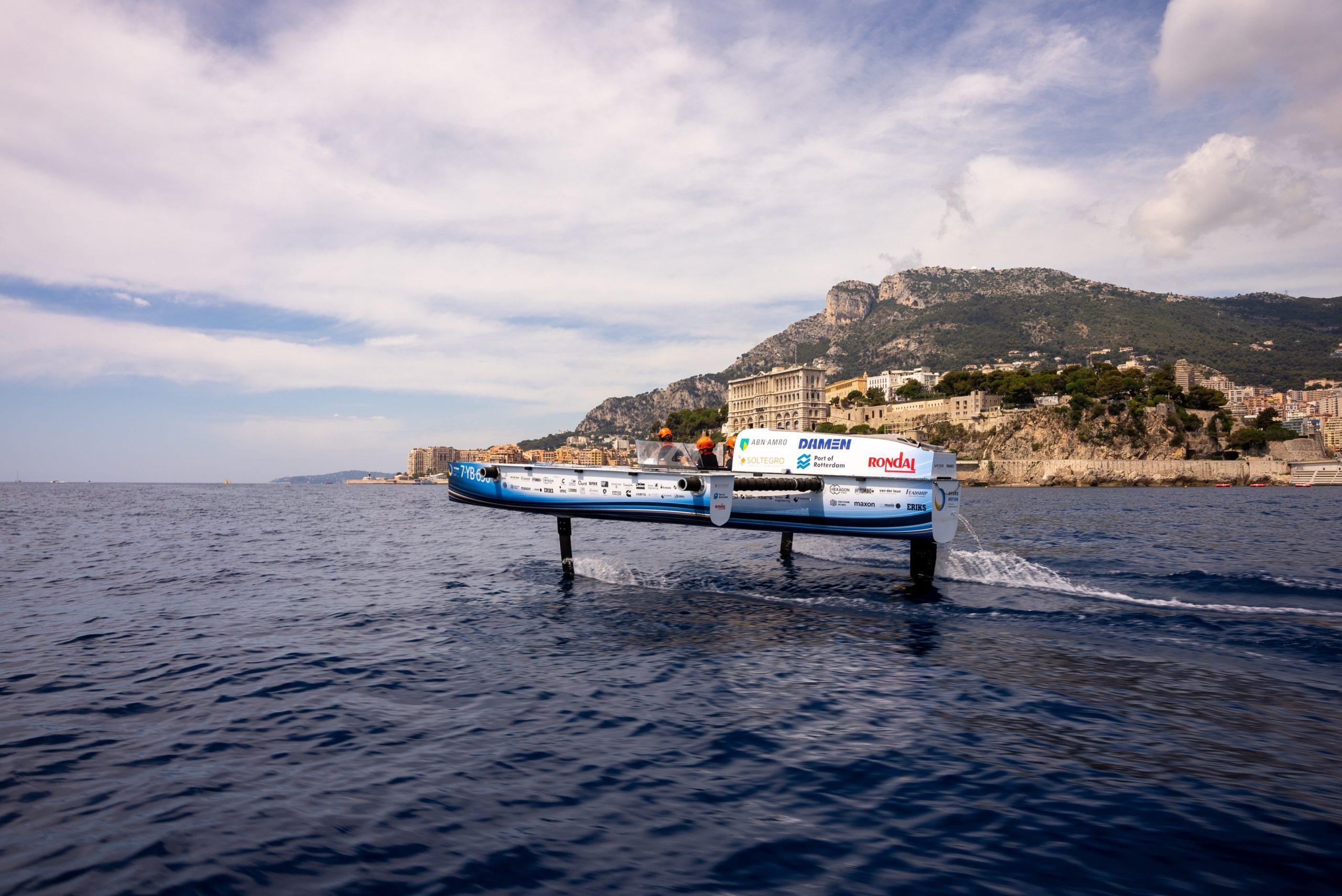 Damage prevents TU Delft's hydrogen boat from sailing final race in Monaco
