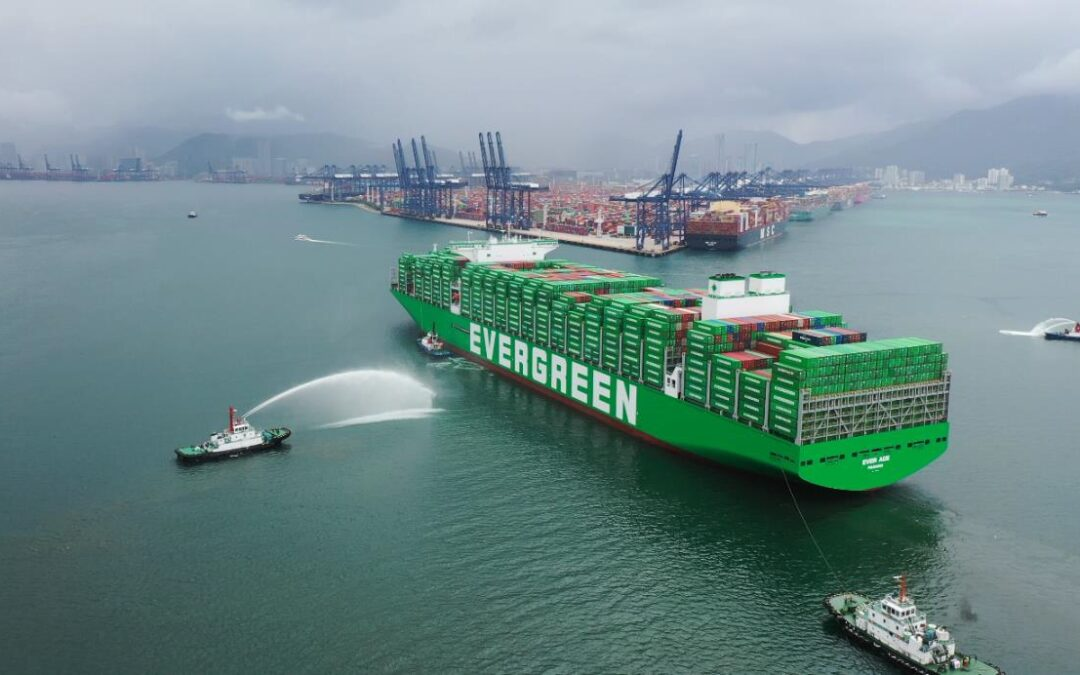 World's largest container ship en route to Rotterdam
