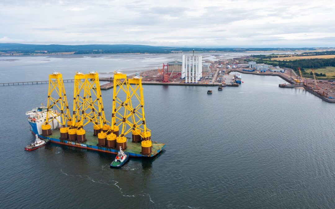 Seaway 7 delivers first jackets for Seagreen Offshore Wind Farm