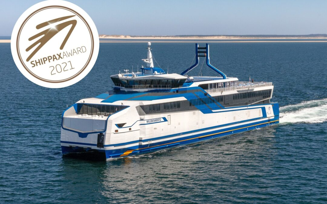 Doeksen's LNG catamaran Willem Barentsz wins Shippax Technology and Design Award