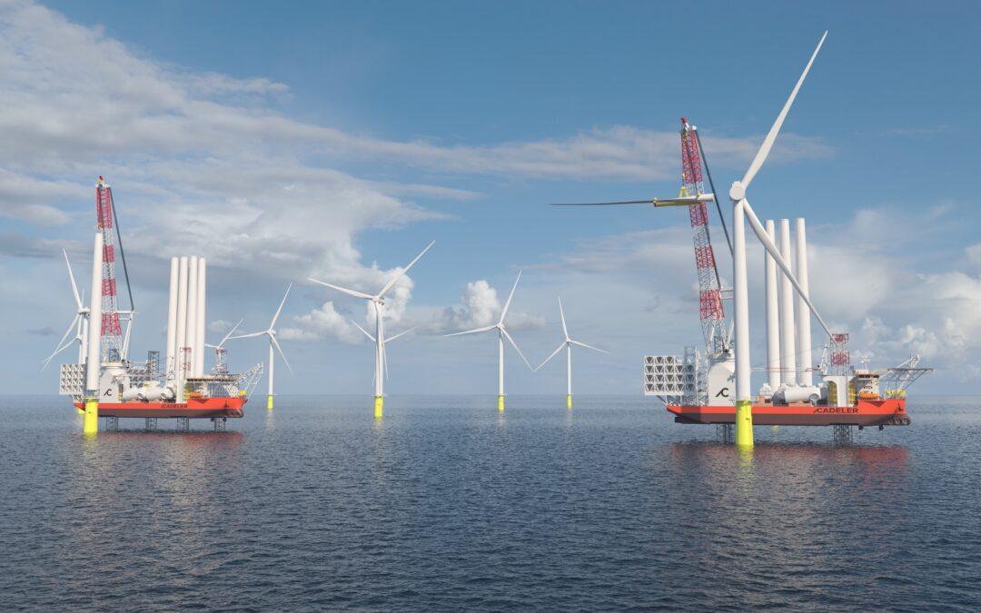 GustoMSC designs used for giant offshore wind installation ships for Cadeler