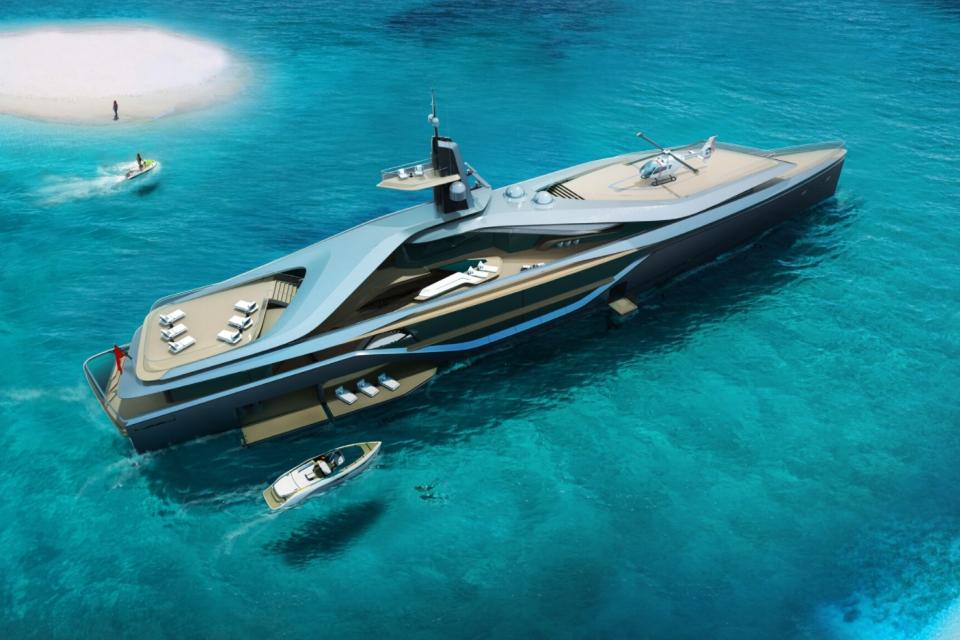 Oceanco unveils electric NXT yacht design Kairos