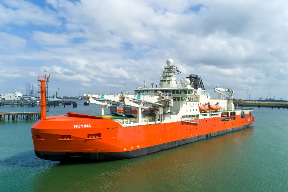 Damen delivers Antarctic research vessel Nuyina