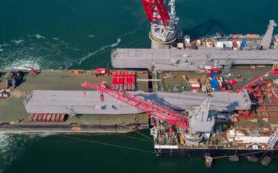 [VIDEO] Allseas installs jacket lift system beams on Pioneering Spirit