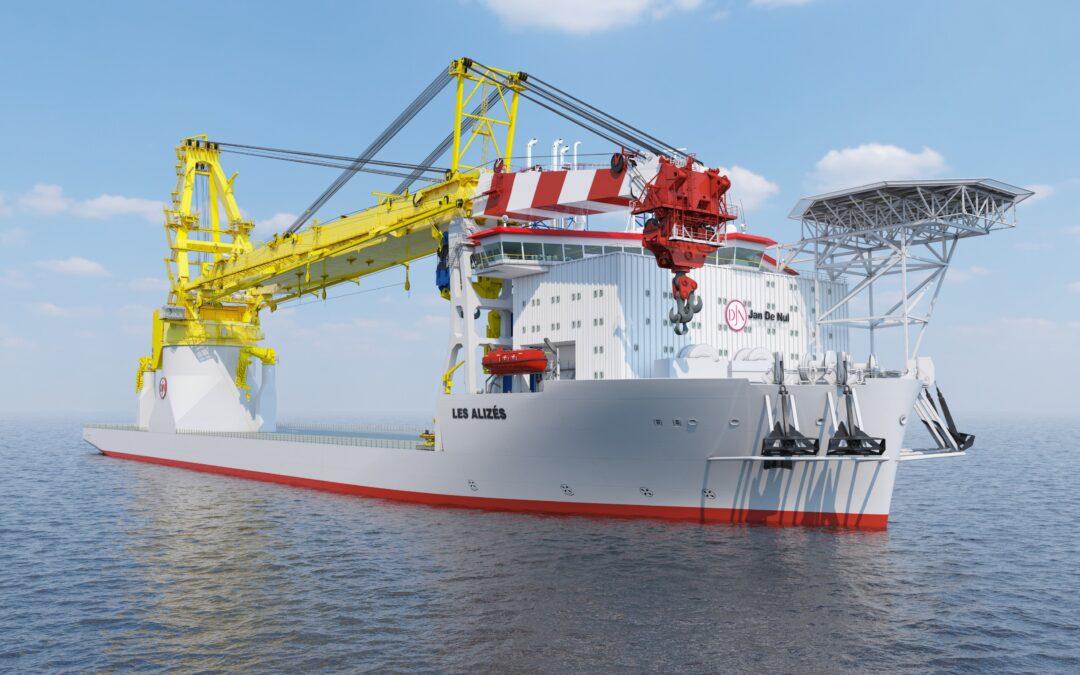 Jan De Nul orders monopile installation system for floating installation vessel Les Alizés