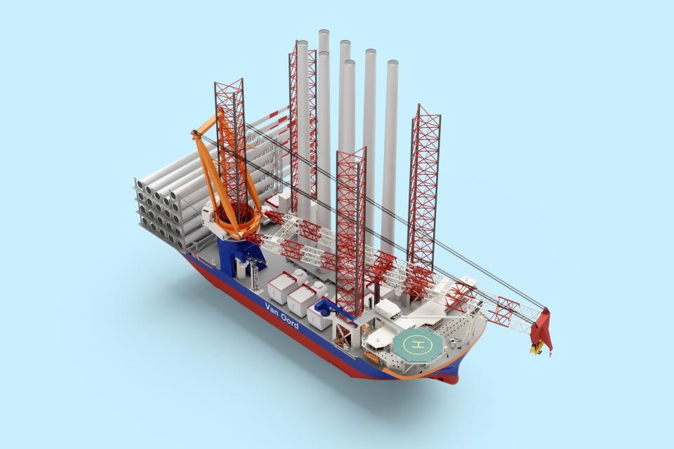 Van Oord orders methanol-powered mega ship to install 20-MW wind turbines